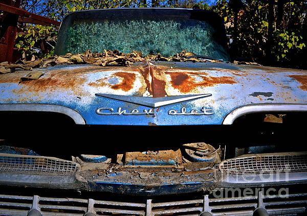 Chevrolet Picking Print by Gwyn Newcombe