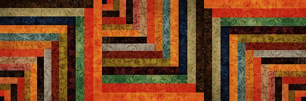 Chevron Brocade Triptych Print by Michelle Calkins