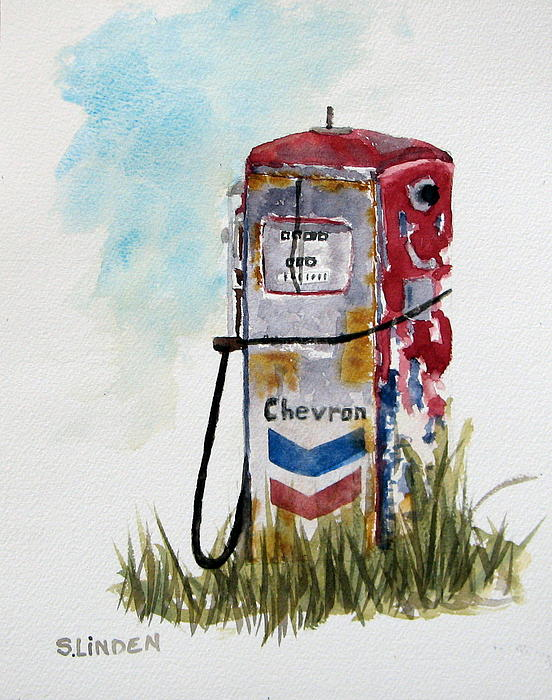 Chevron Print by Sandy Linden