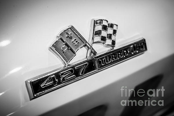 Chevy Corvette 427 Turbo-jet Emblem Print by Paul Velgos