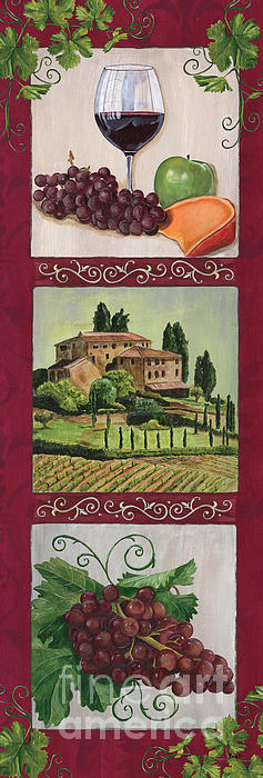 Chianti And Friends Collage 1 Print by Debbie DeWitt