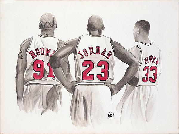 Chicago Bulls Print by Megan Cardwell