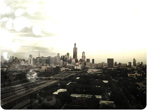 Chicago Skyline Print by Mike Maher