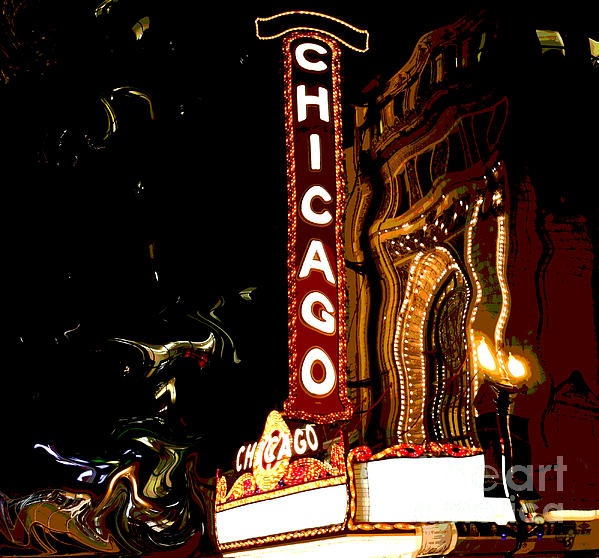 Sophie Vigneault - Chicago Theater Sign