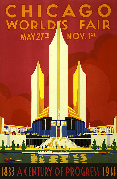Chicago World's Fair Print by Nomad Art And  Design
