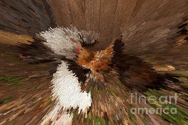 Chicken Art Print by Donna Brown