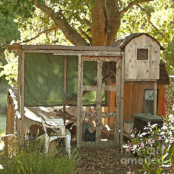 Chicken Coop On The Farm Print by Artist and Photographer Laura Wrede