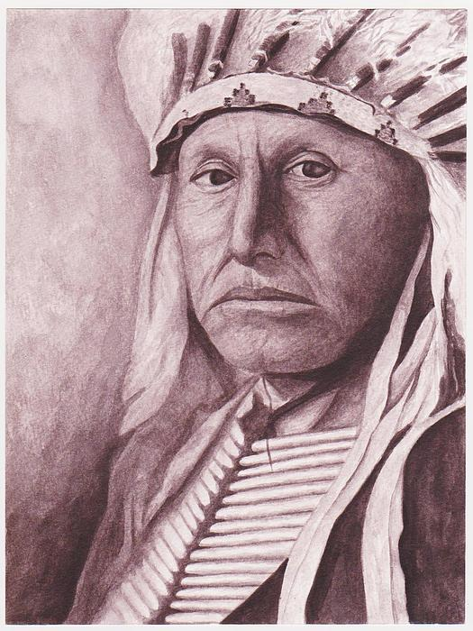 Chief Red Tomahawk Print by Billie Bowles