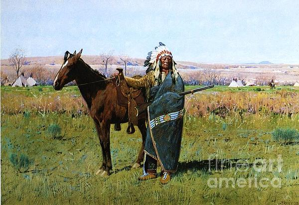 Chief Spotted Tail Print by Pg Reproductions