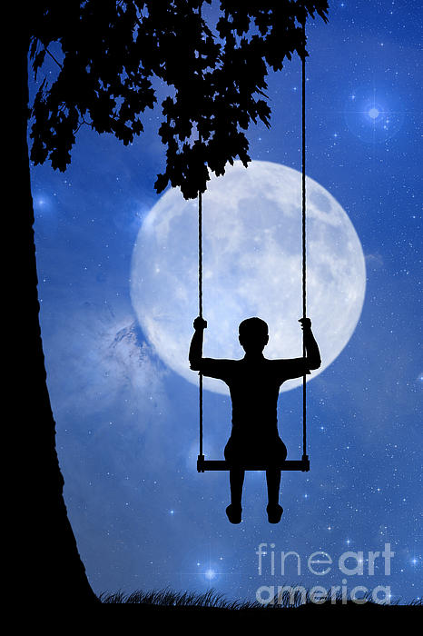 Childhood Dreams 2 The Swing Print by John Edwards