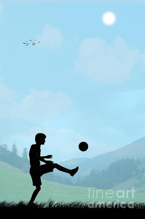 Childhood Dreams Football Print by John Edwards