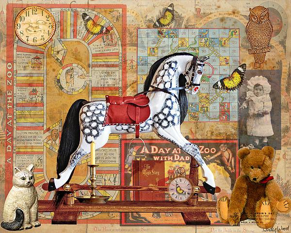 Childhood Treasures Print by Judy Wood