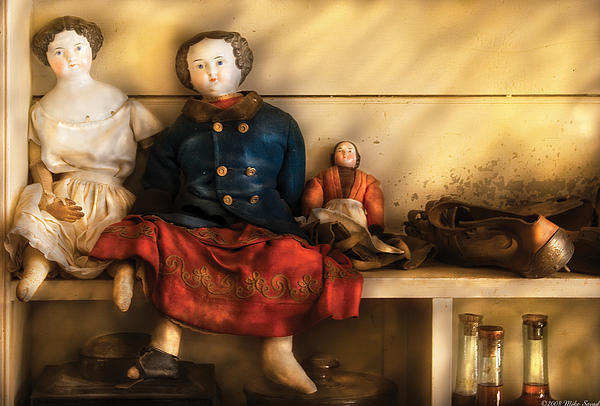 Children - Toys - Assorted Dolls Print by Mike Savad