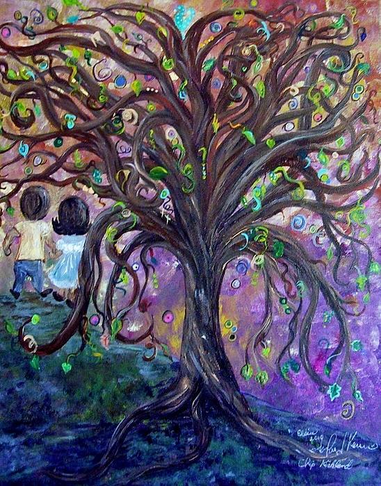 Children Under The Fantasy Tree With Jackie Joyner-kersee Print by Eloise Schneider