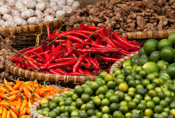 Chillies 01 Print by Rick Piper Photography