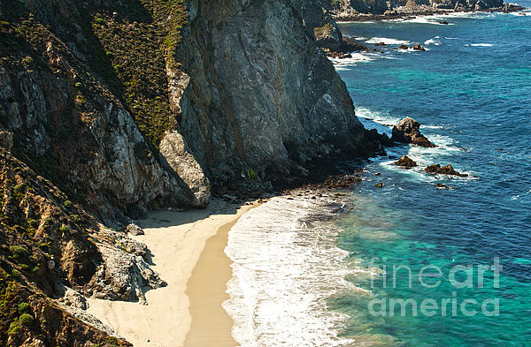 China Cove At Point Lobos State Beach Print by Artist and Photographer Laura Wrede