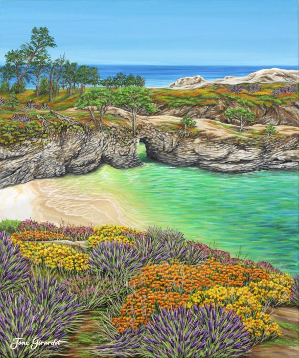 China Cove Paradise Print by Jane Girardot
