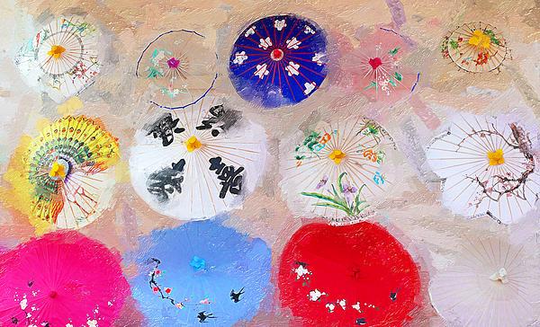 Chinatown Umbrellas Print by Ron Regalado
