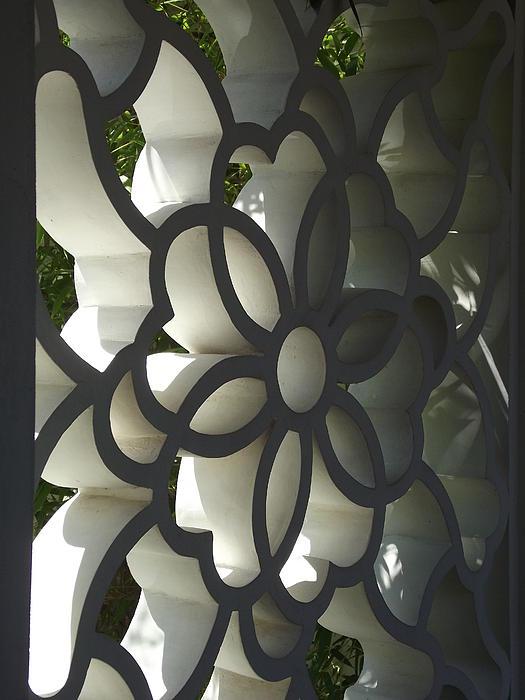 Chinese Garden Window Print by Cheryl Hardt Art