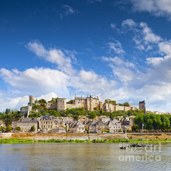 Chinon Loire Valley France Print by Colin and Linda McKie