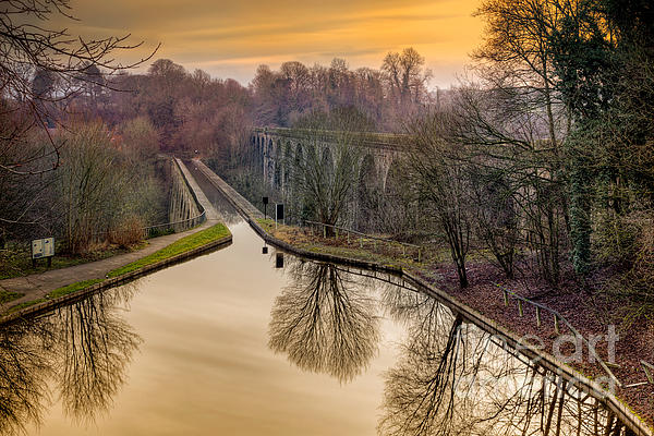 Chirk Aqueduct Print by Adrian Evans