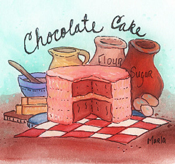Chocolate Cake Print by MarLa Hoover