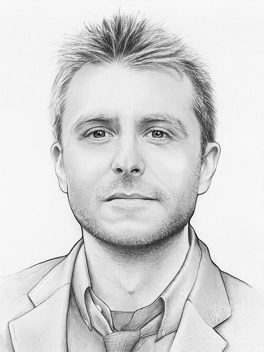 Chris Hardwick Print by Olga Shvartsur