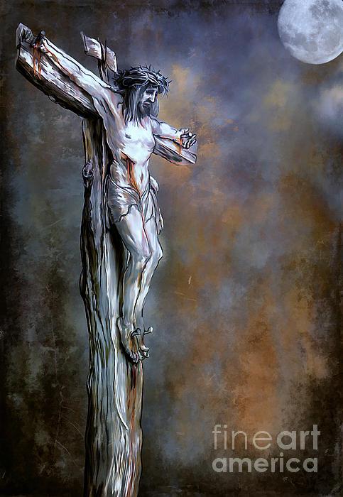 Christ On The Cross  Print by Andrzej Szczerski