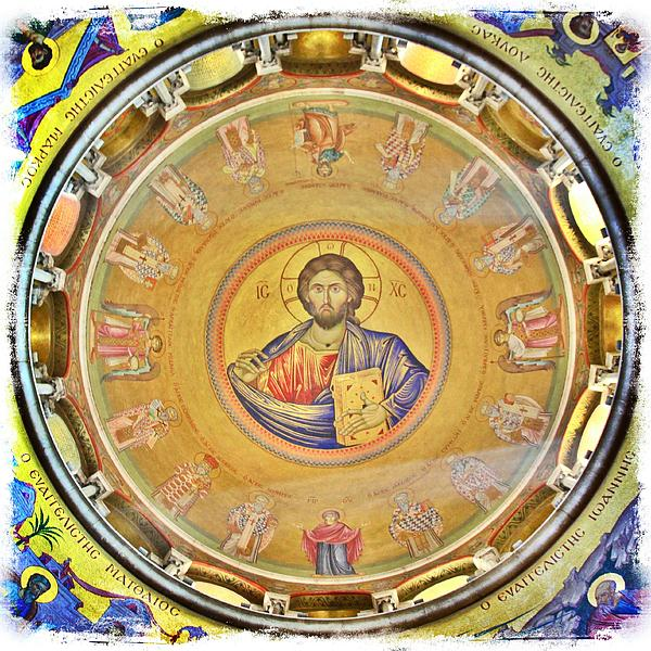 Christ Pantocrator -- Church Of The Holy Sepulchre Print by Stephen Stookey