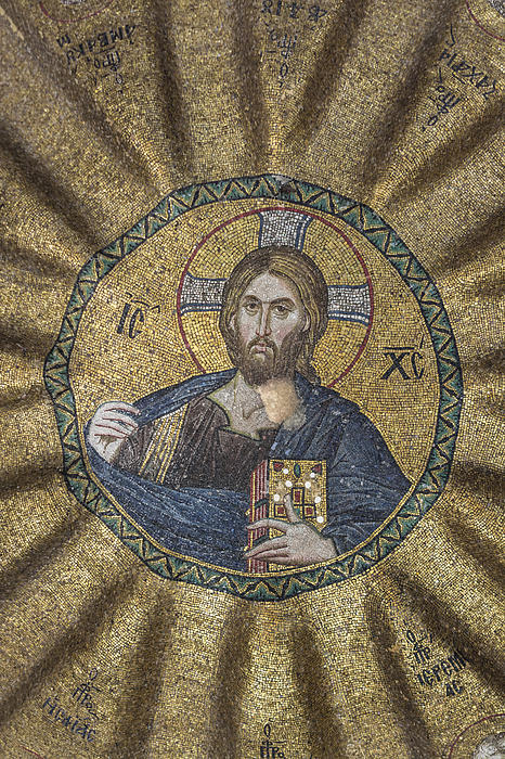 Christ Pantocrator Surrounded By The Prophets Of The Old Testament 2 Print by Ayhan Altun
