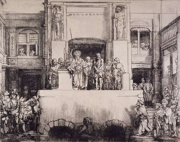 Christ Presented To The People, 1655 Print by Rembrandt Harmensz. van Rijn