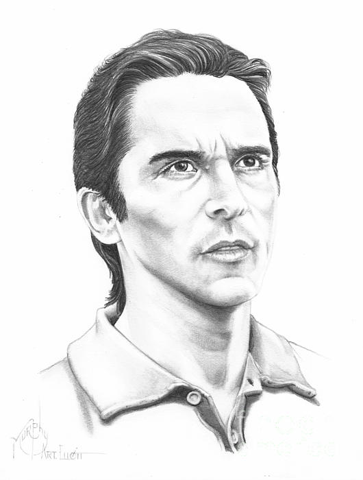 Christian Bale Print by Murphy Elliott