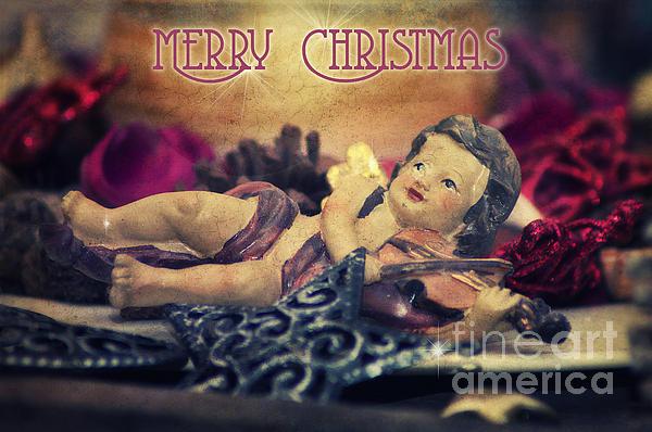 Christmas Angel II Print by Angela Doelling AD DESIGN Photo and PhotoArt