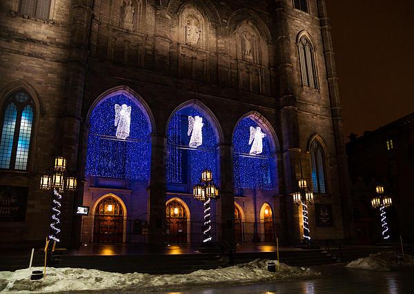 Christmas Angels - Notre-dame De Montreal Basilica Print by Georgia Mizuleva