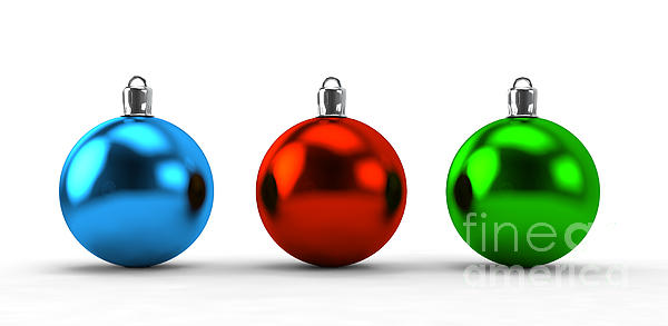 Christmas Balls Collection Print by Michal Bednarek