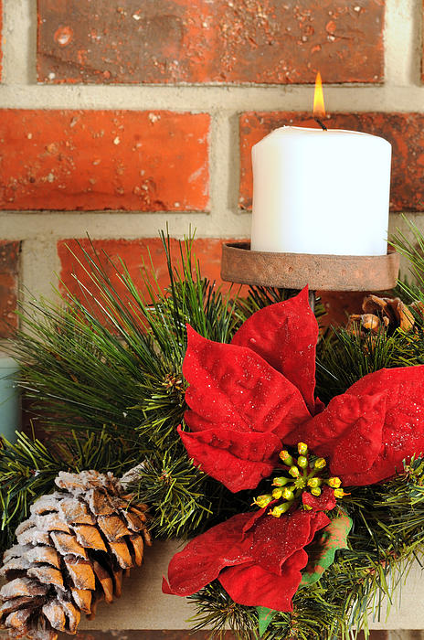 Christmas Candle Print by Kenneth Sponsler