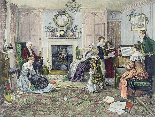 Christmas Carols Print by Walter Dendy Sadler