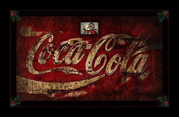 Christmas Coca Cola 1881 Santa Print by John Stephens