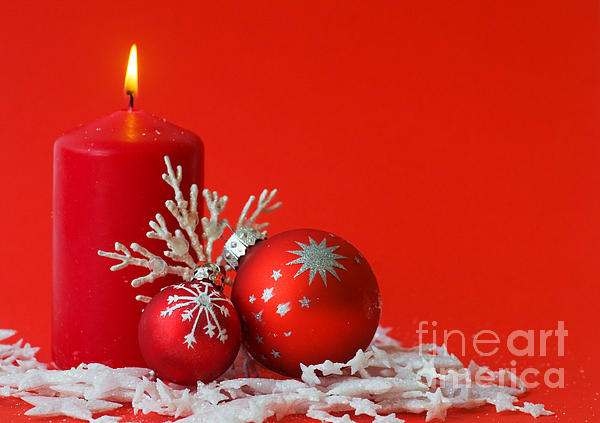 Christmas Decoration Background Print by Michal Bednarek