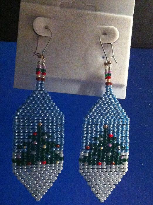 Christmas Earrings Print by Kimberly Johnson