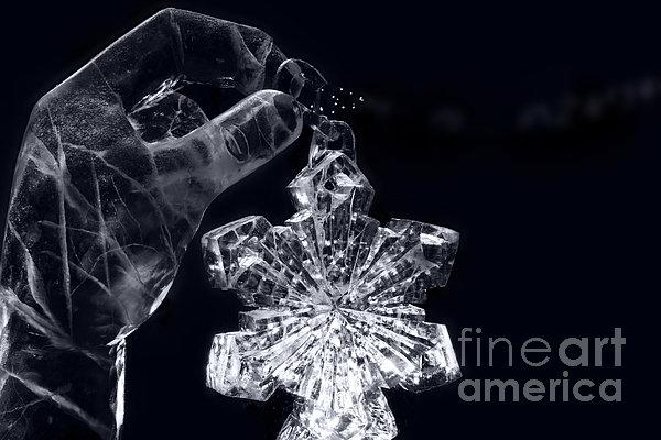 Christmas In Ice Print by Sharon Mau