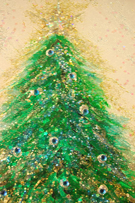 First Star Art  - Christmas Tree Gold by jrr
