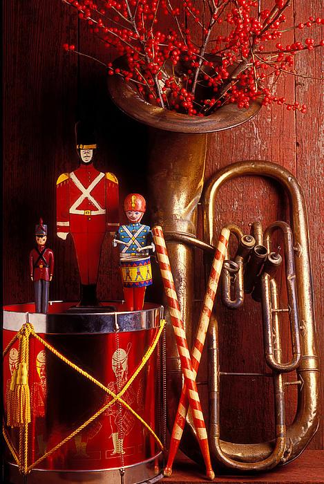 Christmas Tuba Print by Garry Gay