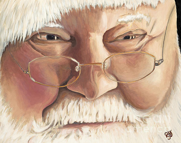 Christmas Twinkle Santa Print by Patty Vicknair