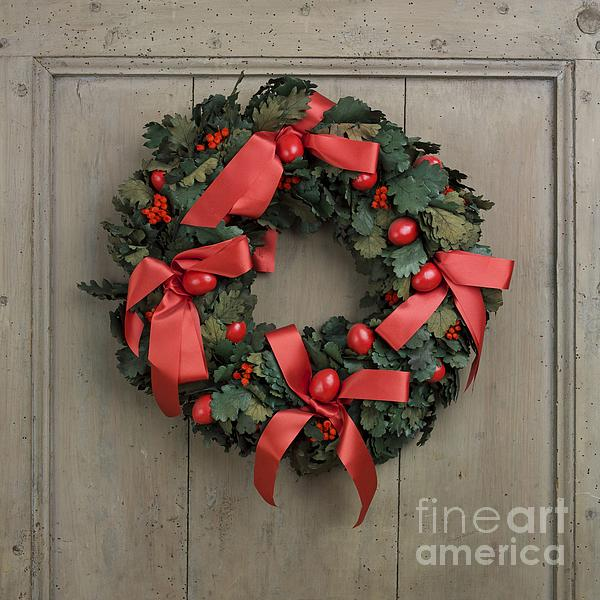 Christmas Wreath Print by Bernard Jaubert
