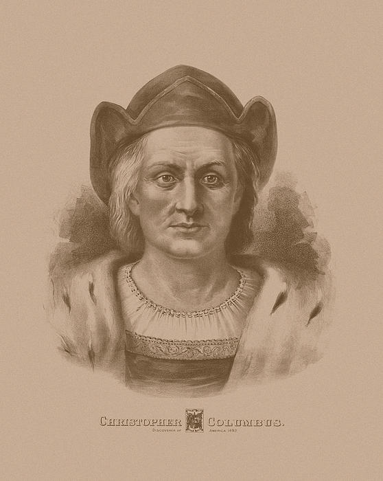 Christopher Columbus Print by War Is Hell Store