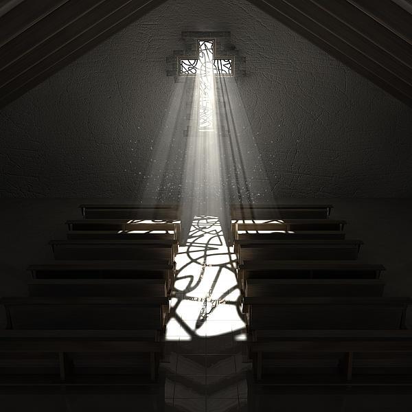 Christ's Light In The Dark Print by Allan Swart