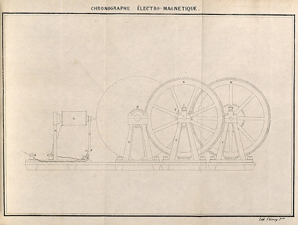 Chronograph, 19th Century Artwork Print by Science Photo Library