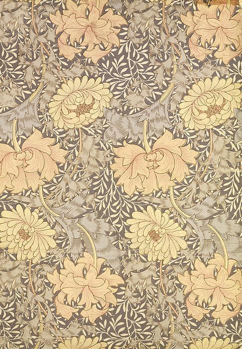 Chrysanthemum Print by William Morris