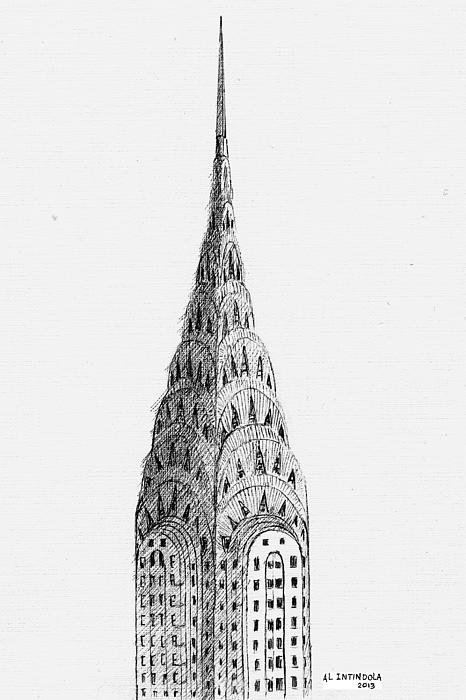 Chrysler Building Print by Al Intindola
